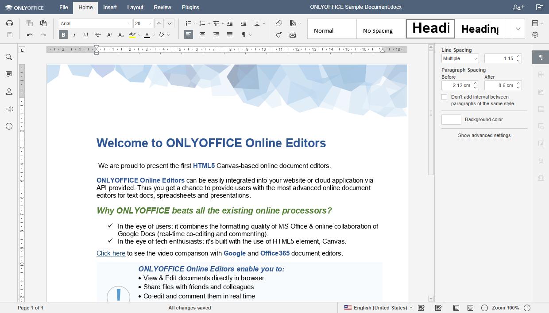 ONLYOFFICE screenshot: Document Editor