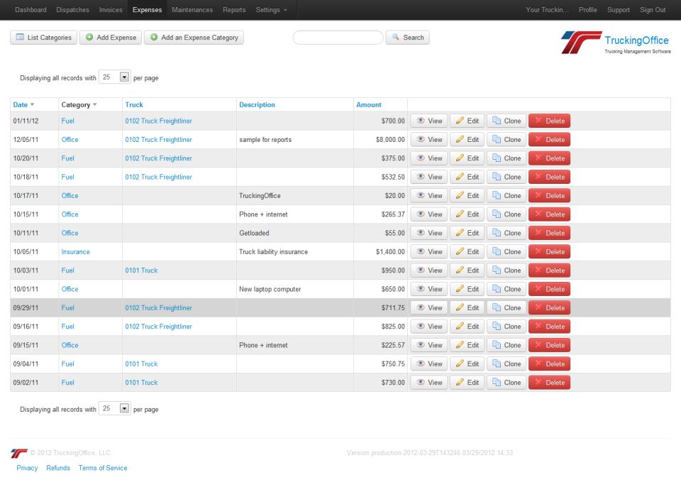 TruckingOffice Software - 3