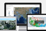 Captura de tela do ArcGIS: ArcGIS Online from Esri is a SaaS-based mapping and analysis solution, securely hosted for 24/7 web-based access