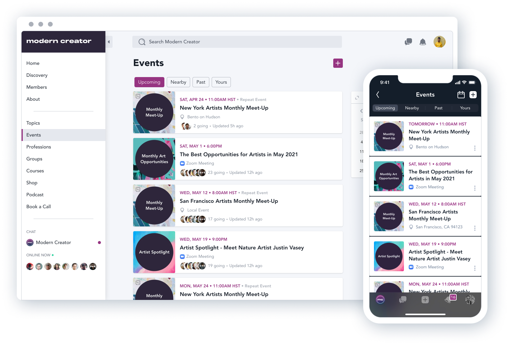 Mighty Networks Software - Host, organize, and promote live events, offline events, and other virtual events through your Mighty Network.