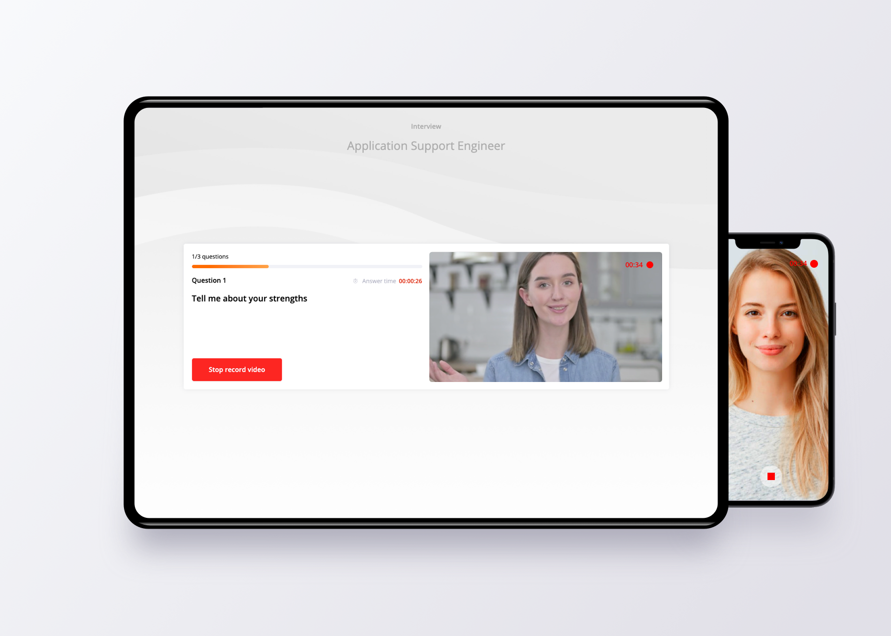 Live and on-demand video interviewing