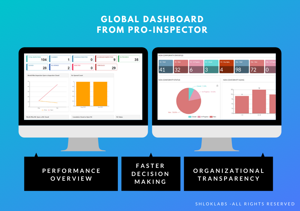 Pro-Inspector Software - Global Dashboard