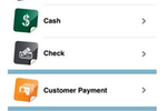 eBizCharge screenshot: The software's mobile app allows business owners to take payment via debit card, credit card, and cash