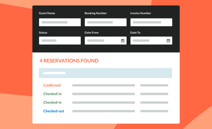 Easy search and find reservations