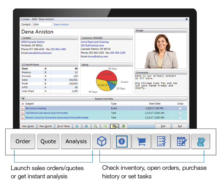 CRM embedded in ERP