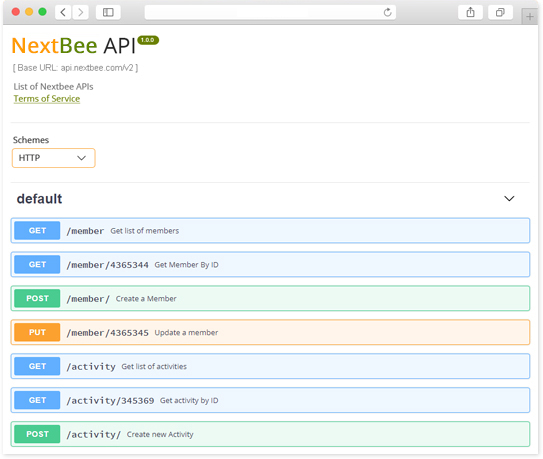NextBee API gateway