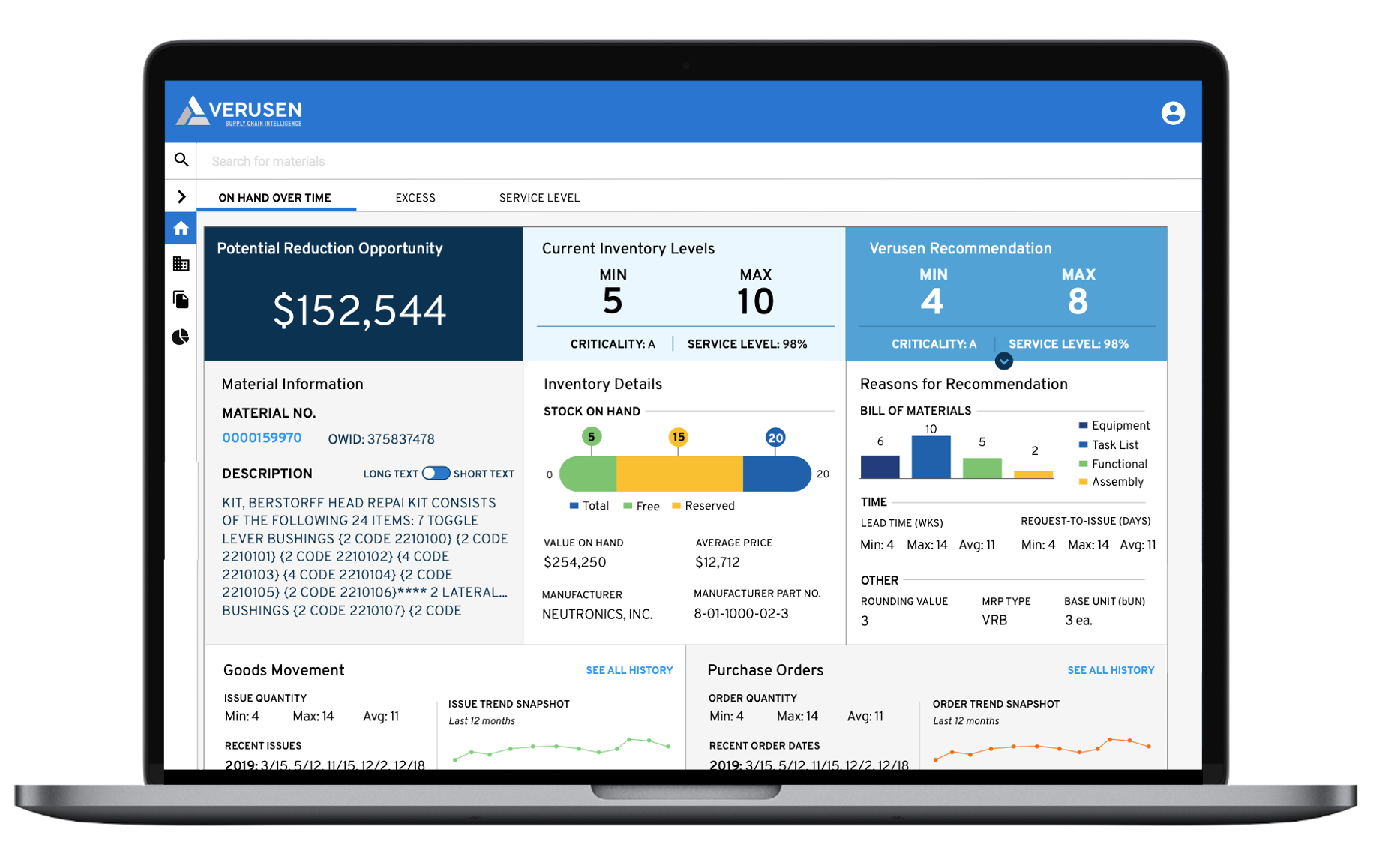 Verusen Software - Inventory Optimization and Data Harmonization