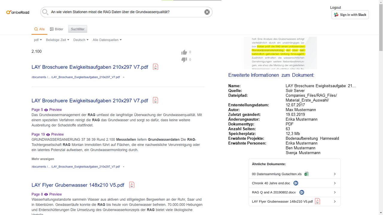 amberSearch desktop version