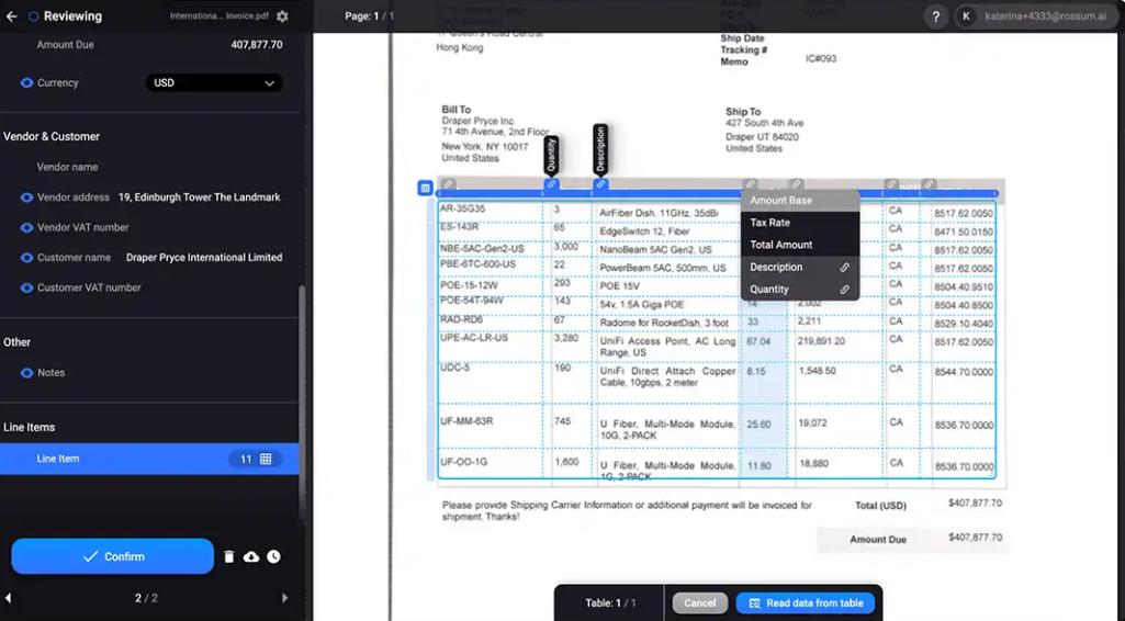 Rossum Software - Rossum Data Capture