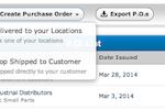 SalesBinder screenshot: SalesBinder purchase order management