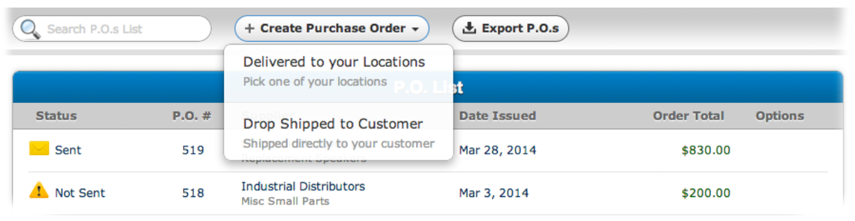 SalesBinder purchase order management