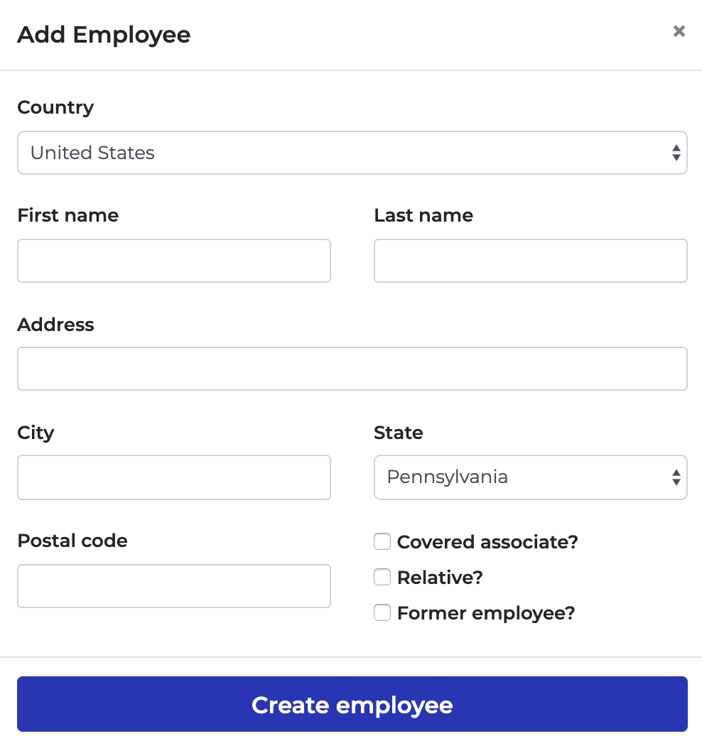Six Lambda employee detail addition screenshot