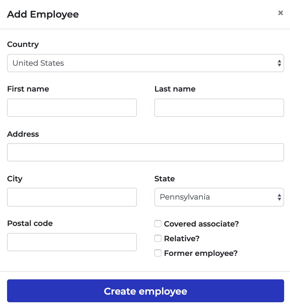 Six Lambda Software - Six Lambda employee detail addition screenshot