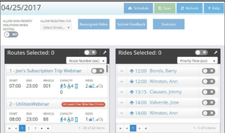 Create realistic, accurate schedules with Trip Master's automated scheduling engine
