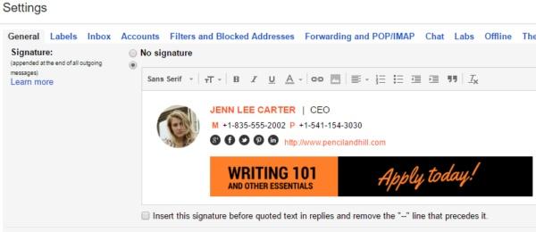 SignatureSatori settings