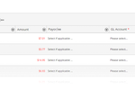 TaxSlayer Books Screenshot: Users can assign each transaction to a GL account, and match transactions with bills or invoices