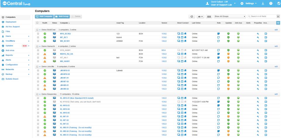 LogMeIn Central Software - 5
