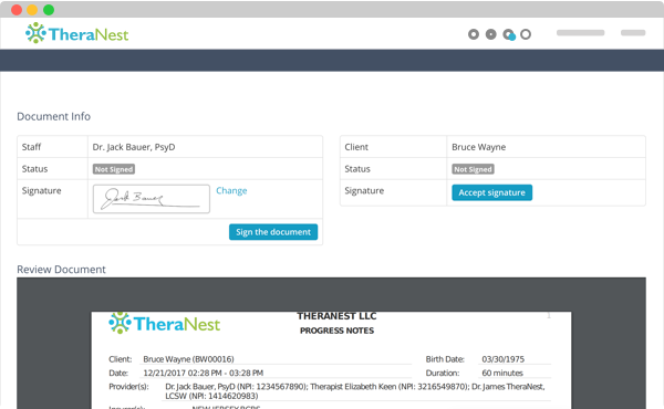 TheraNest Software - 5