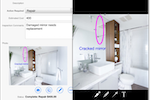 Flowfinity screenshot: Improve clarity with photo annotations using the advanced photo annotation editor to add text, shapes, and sketches in different colors and styles