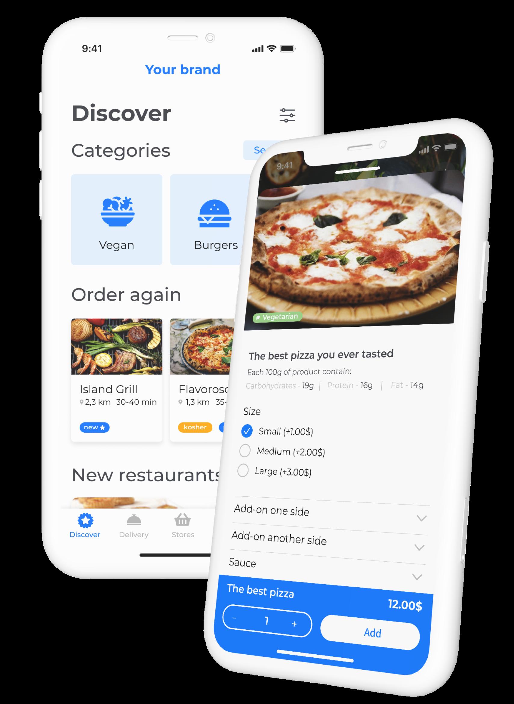 DelivApp multi-merchant white-label ordering app