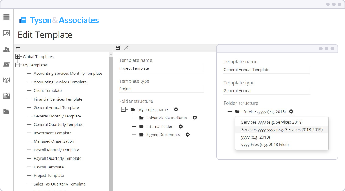 SmartVault custom templates