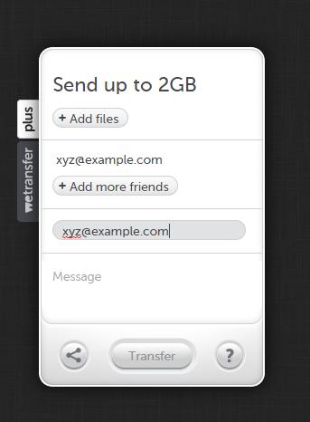 WeTransfer Software - E-mail