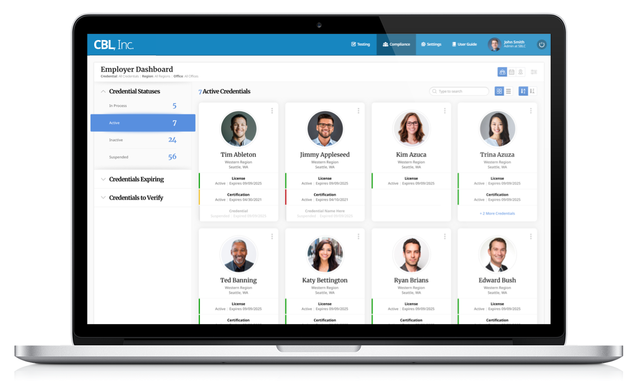 Employee Compliance Dashboard - Certemy Employee Compliance Management