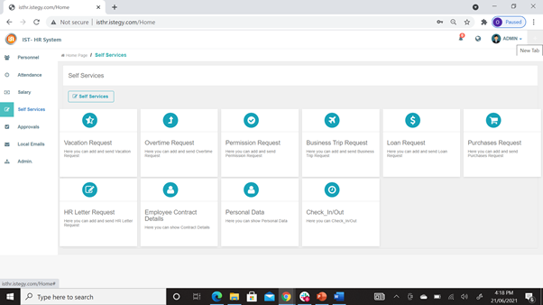 CloudWadi HR Software Software - 4