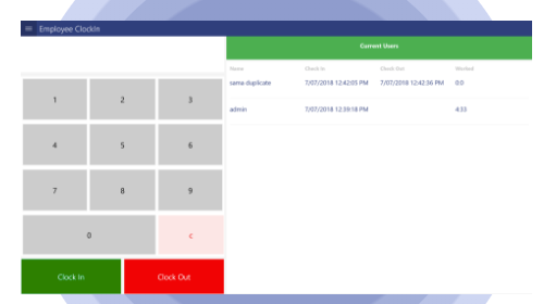 Manage staff attendance, and track their working hours and break times