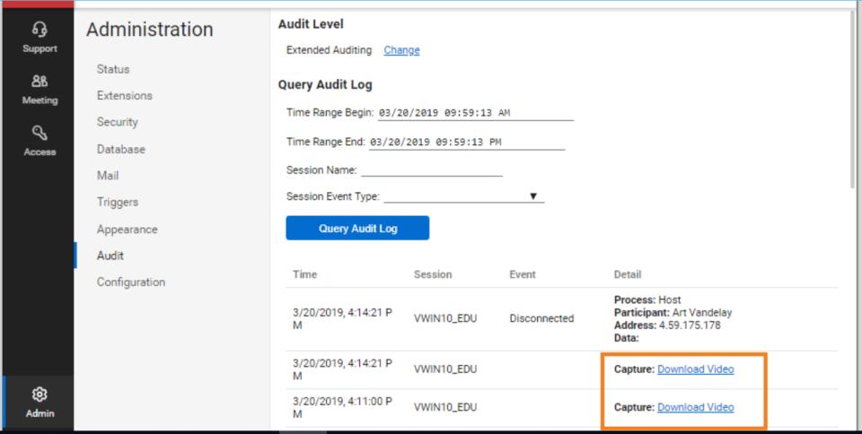 ConnectWise Control audit management