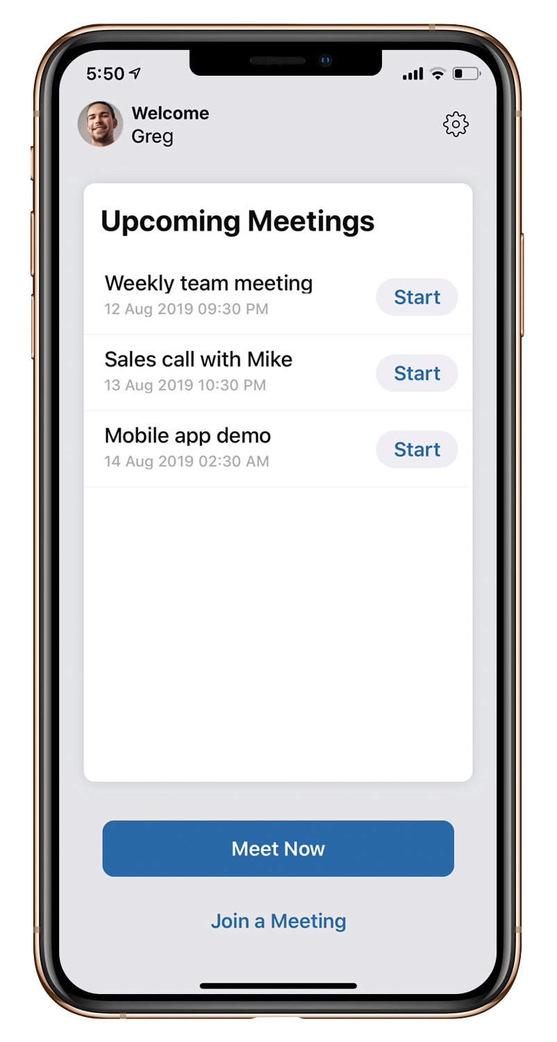 Manage online meetings from your mobile device
