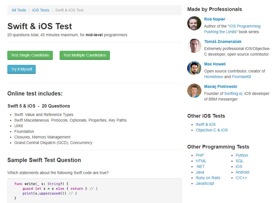 Tests4Geeks iOS tests