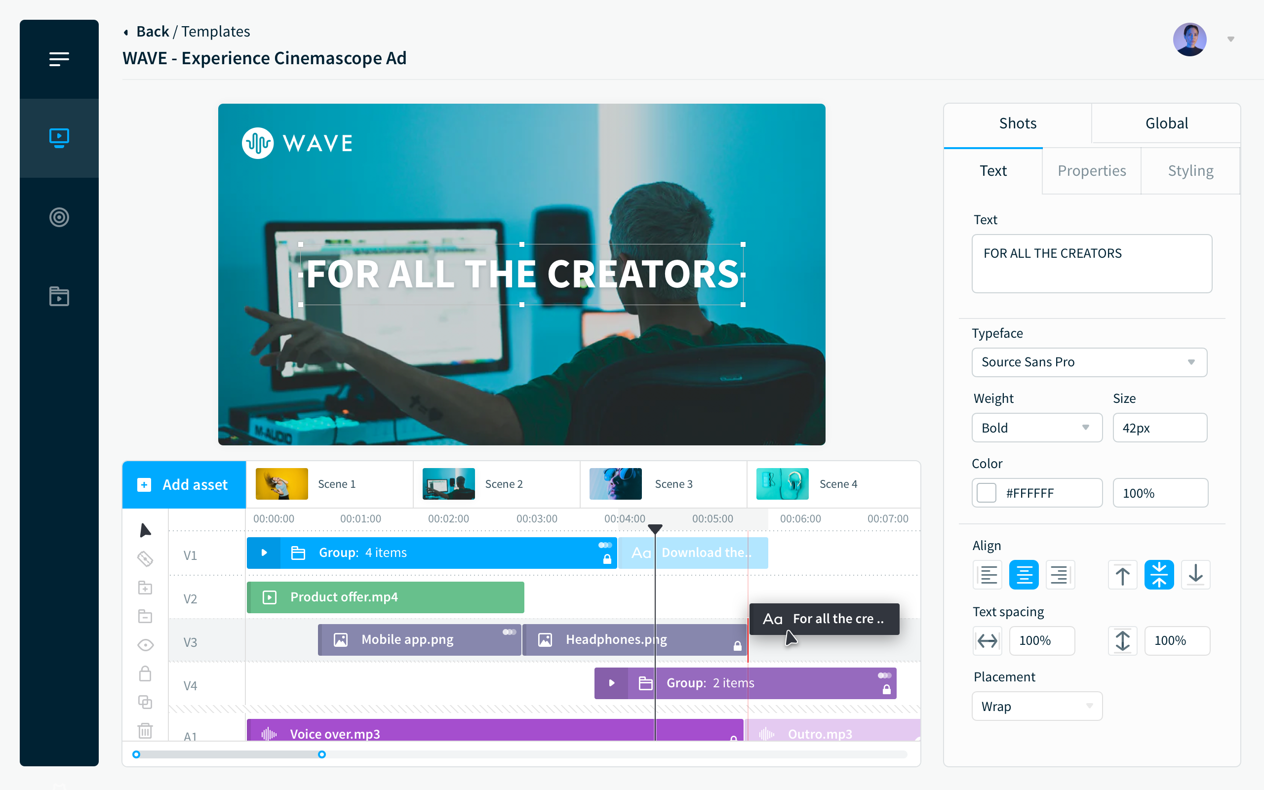 Bynder Video Brand Studio - create on-brand videos at scale, in seconds not hours