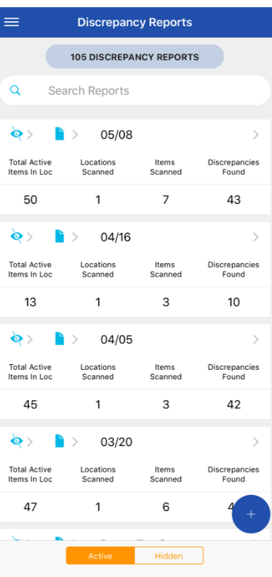 SAFE active discrepancy reports