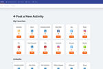 GaggleAMP screenshot: Gaggle Managers can choose what types of activities to send to their employees and stakeholders. GaggleAMP is known for over 50 different activities on your favorite social media networks. Some of our favorites are shown here.