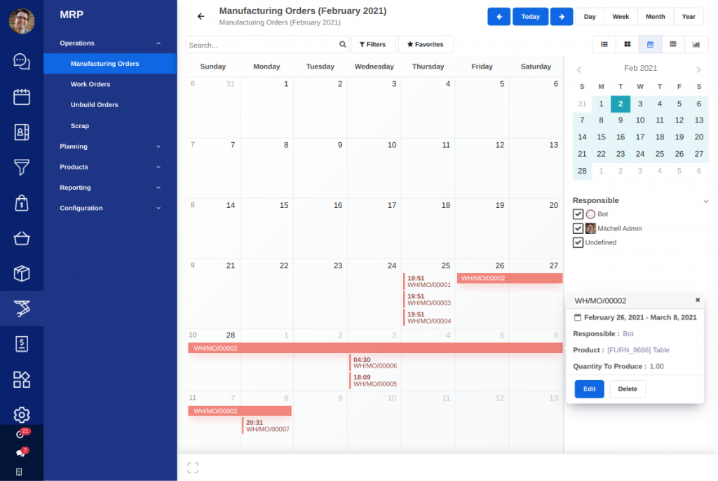 AccelGrid Software - Production scheduling