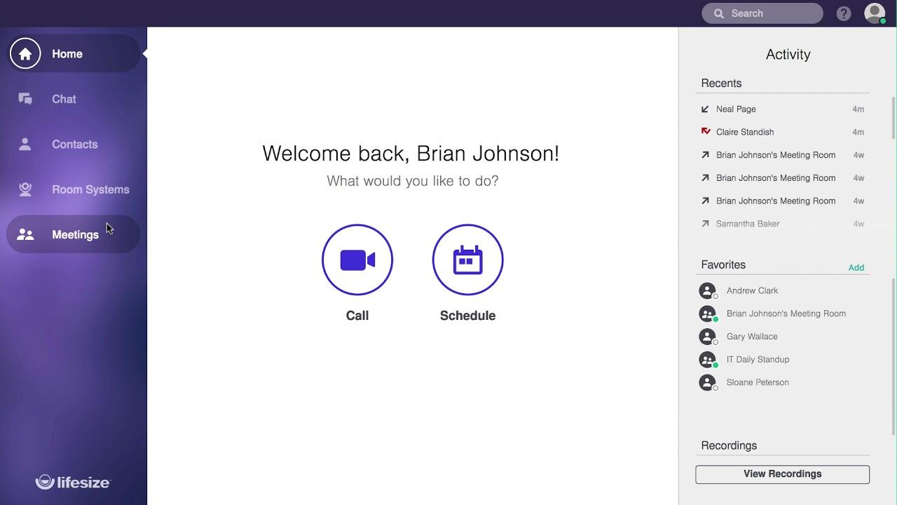 LifeSize Personalized portal
