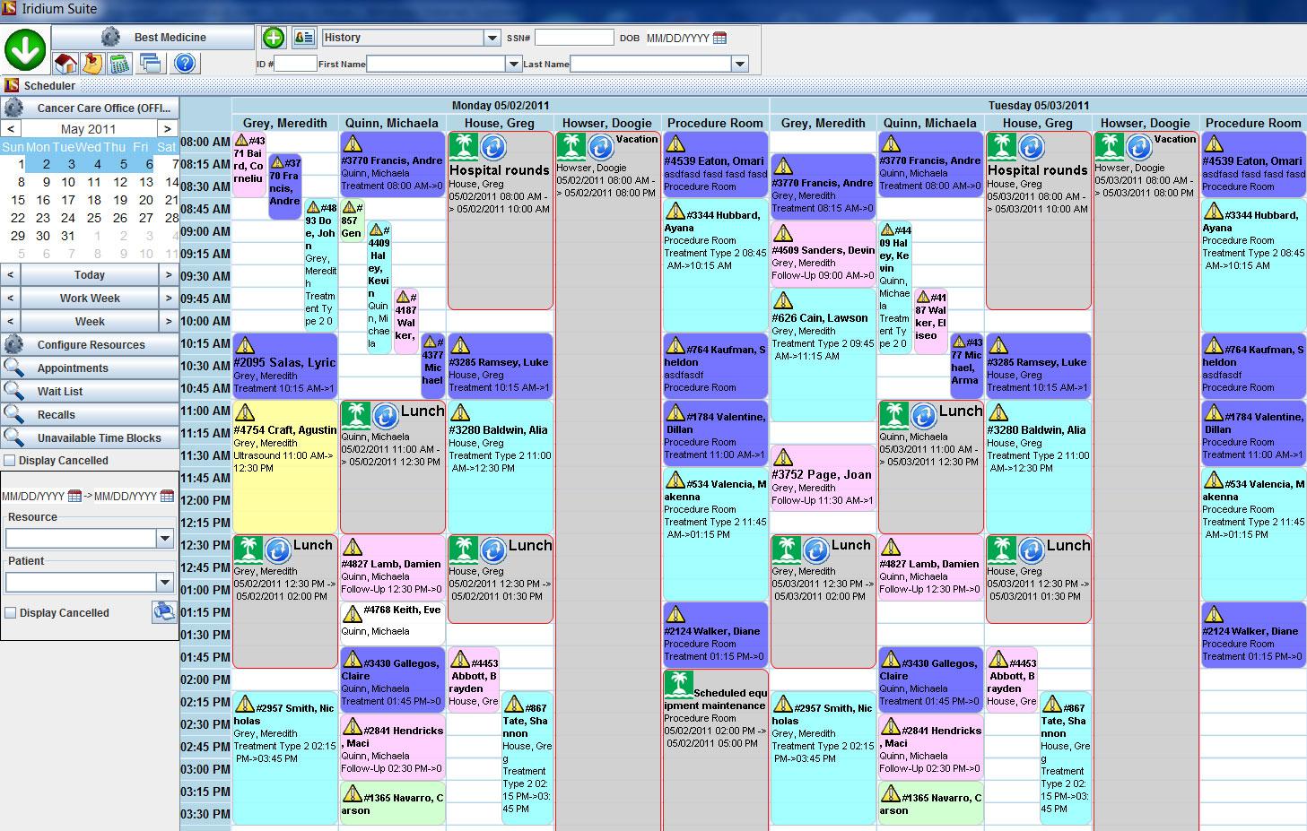 Iridium Suite Software - Appointment scheduler