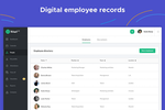 kiwiHR screenshot: employee admin with digital employee records