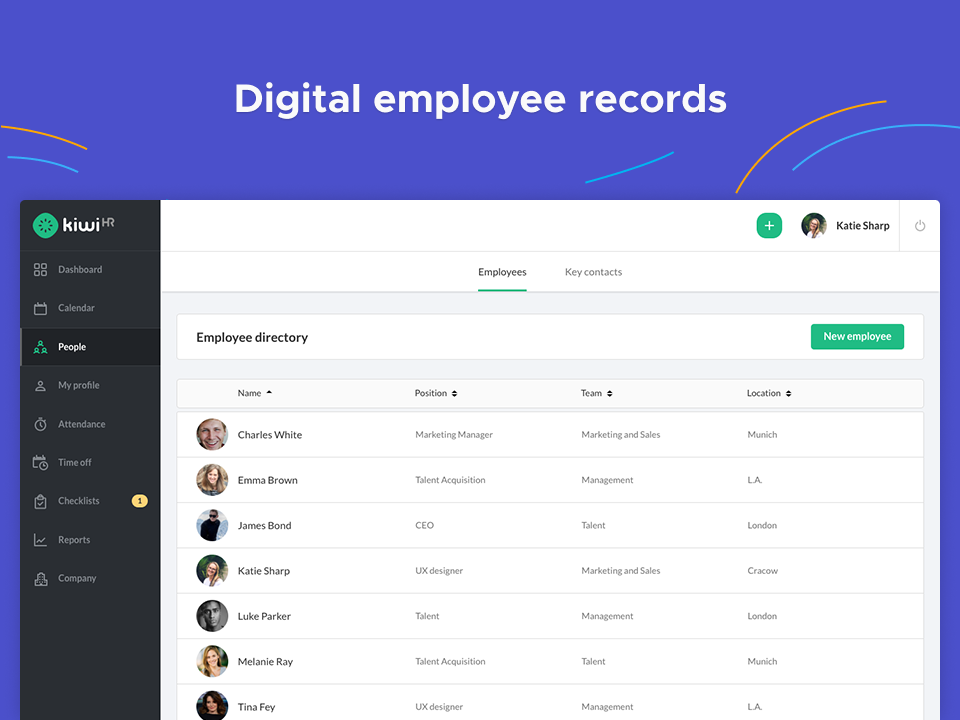employee admin with digital employee records