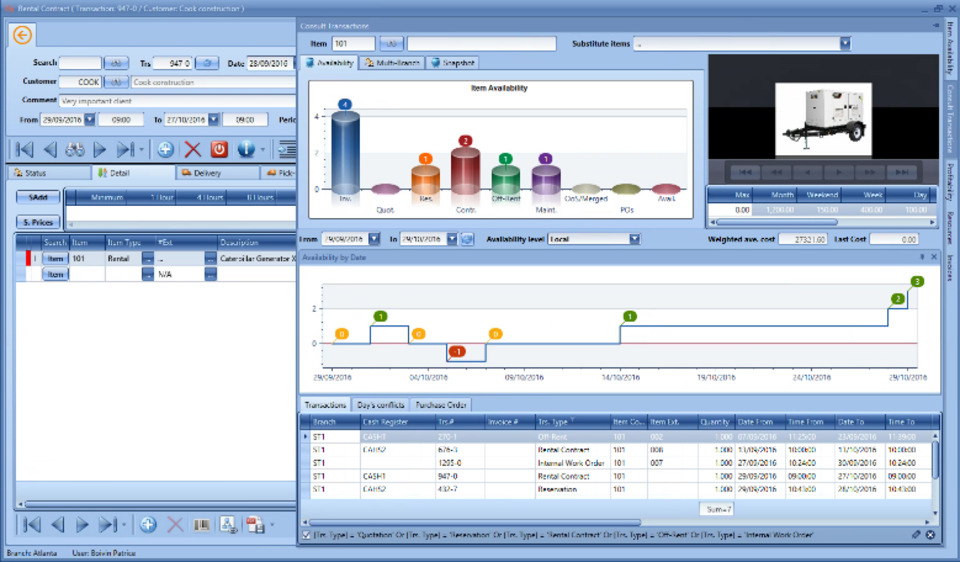 Sirius e Rental field service management