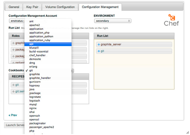 Chef configuration management, run lists and cookbooks