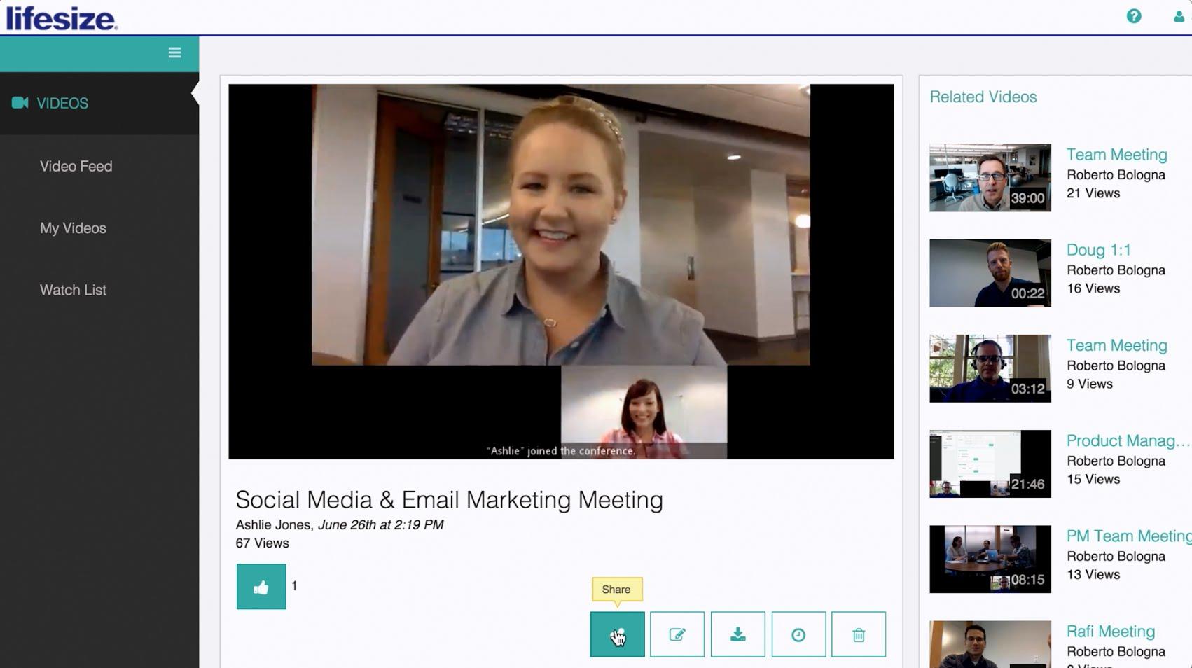 LifeSize Conduct video calls