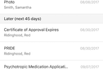 extendedReach screenshot: The calendar tool provides an overview of upcoming events or appointments