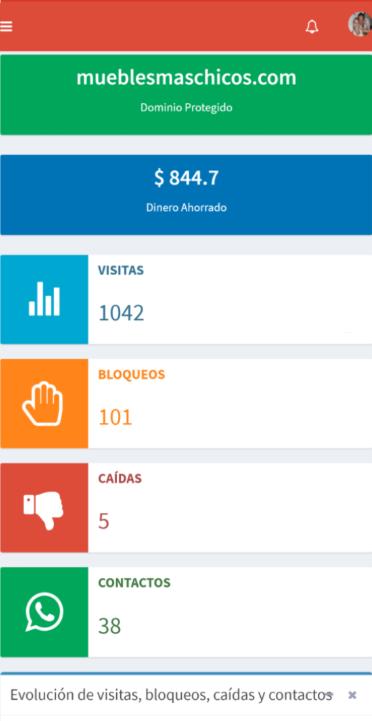AdProtect mobile dashboard