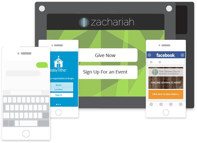 easyTithe multiple online giving channels