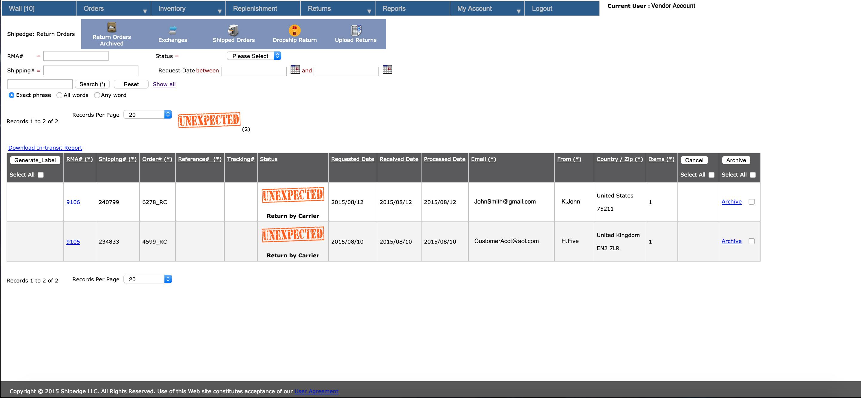 Shipedge Software - Order management