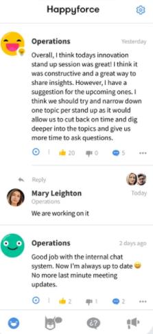 Happyforce team communication
