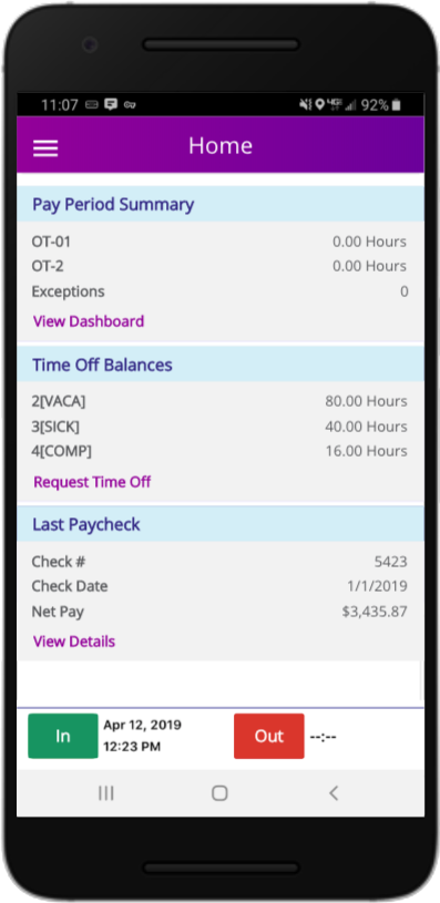 Ascentis Mobile Paychecks