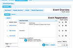 Web Church Connect screenshot: Web Church Connect supports ticketed events